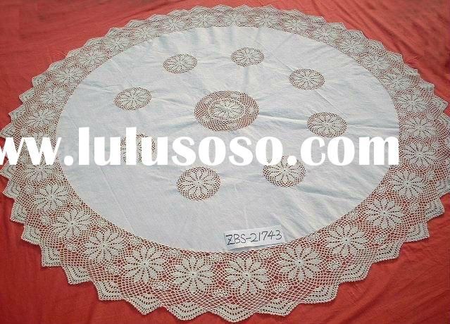 home textile crochet table cover table cloth