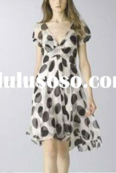 ladies' fashion silk dress
