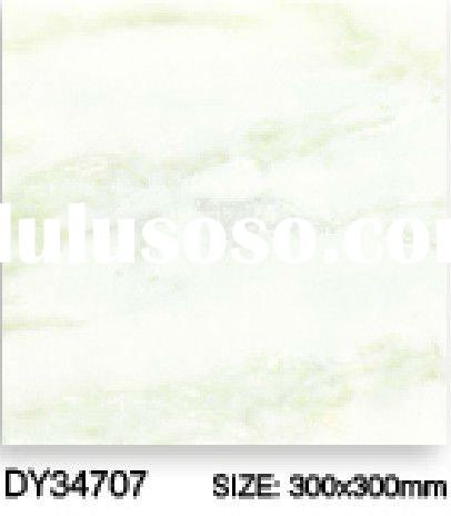 marble look white glossy ceramic tile 300*300 glazed wall tile