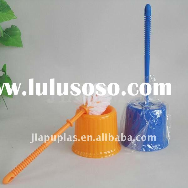 plastic toilet brush with holder-0389