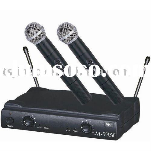 professional dual vhf wireless microphone