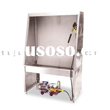 stainless steel screen washing booth with water gun