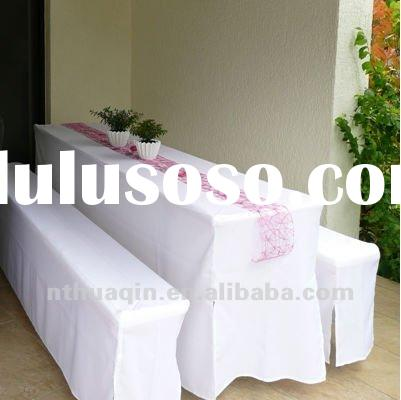 white outdoor Bench table cover Beveria cover beer bench cover set for garden