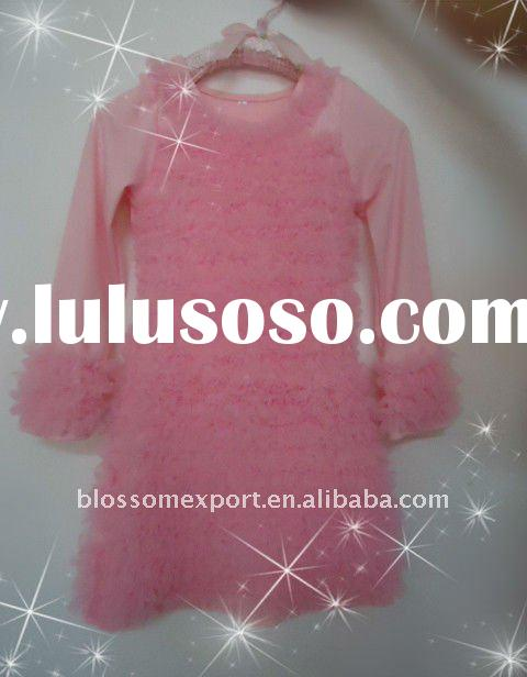 wholesale baby chiffon long sleeve dress