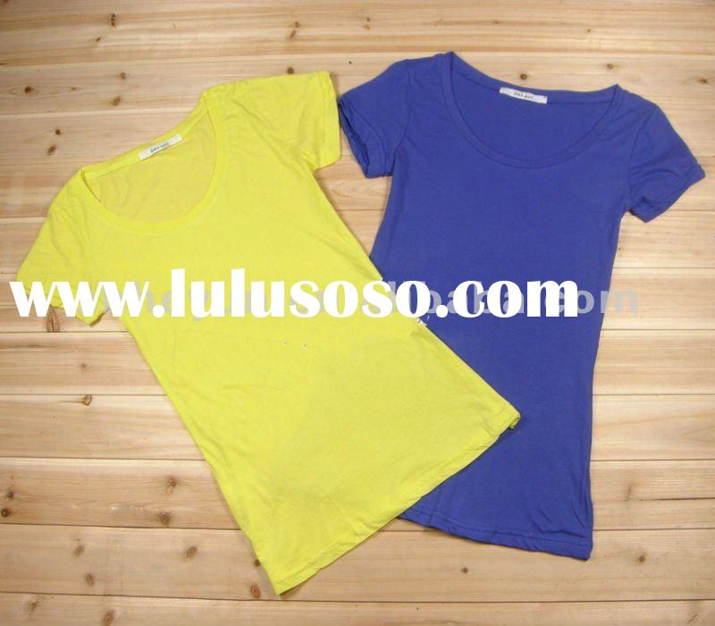 wholesale blank cotton custom t shirts for women