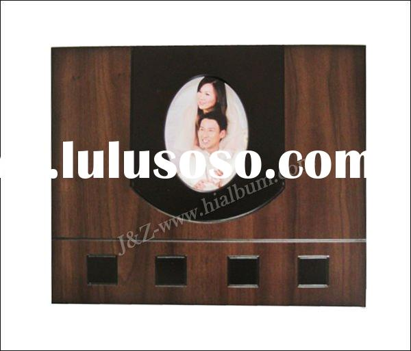 wooden photo album covers wedding design