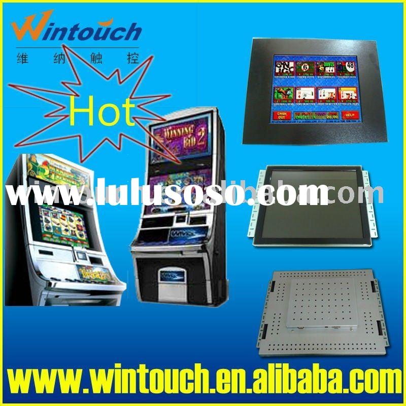 19 inch open frame IR touch screen lcd monitor with bezel for POG / WMS gaming machine