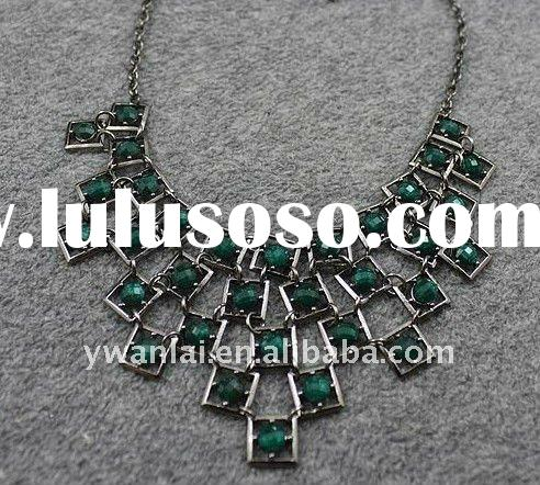 2011 high fashion jewelry chunky vintage statement necklace factory direct