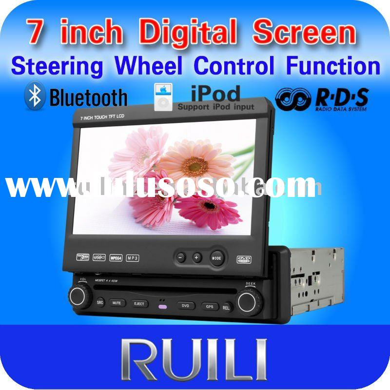 """2011 hot sell 1 DIN 7"""" touch screen car dvd with GPS"""