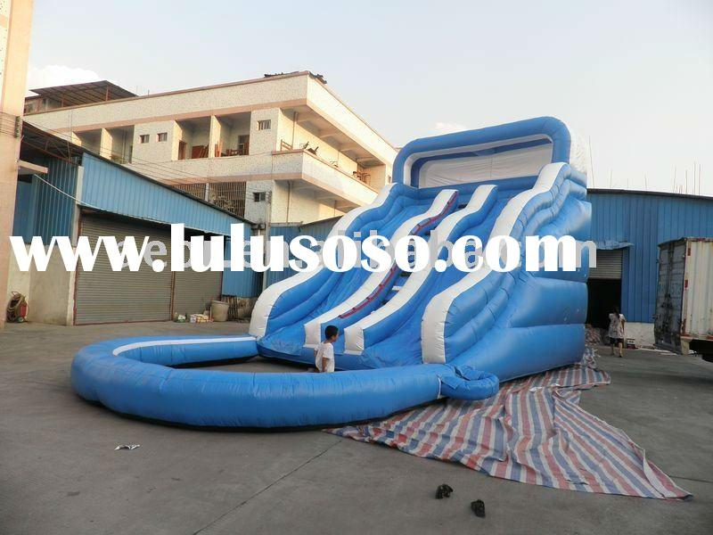 2012 Newest&Hot Inflatable water Slides/inflatable blue water slide with pool