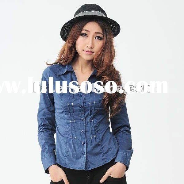 2012 hot sell royal blue fashion ladies tops