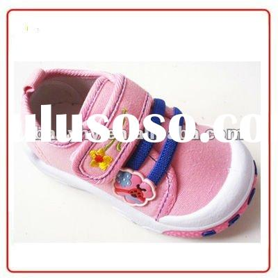 2012 wholesale new design canvas shoes fashion girls shoes for baby BH-CA083E
