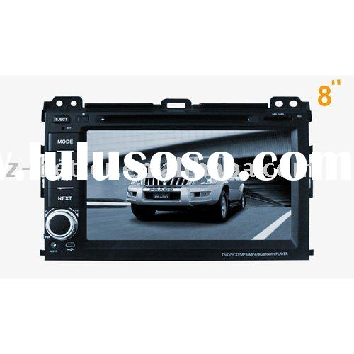 8 inch Car DVD /GPS stereo system for Toyota Prado / GPS navigation/Bluetooth/IPOD/RDS