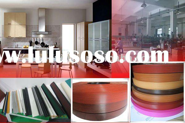 ABS plastic banding wood decorative material with the strong protection on side, veneer edging