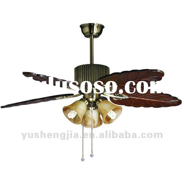 Antique brass wood electric ceiling fan Manufacturer