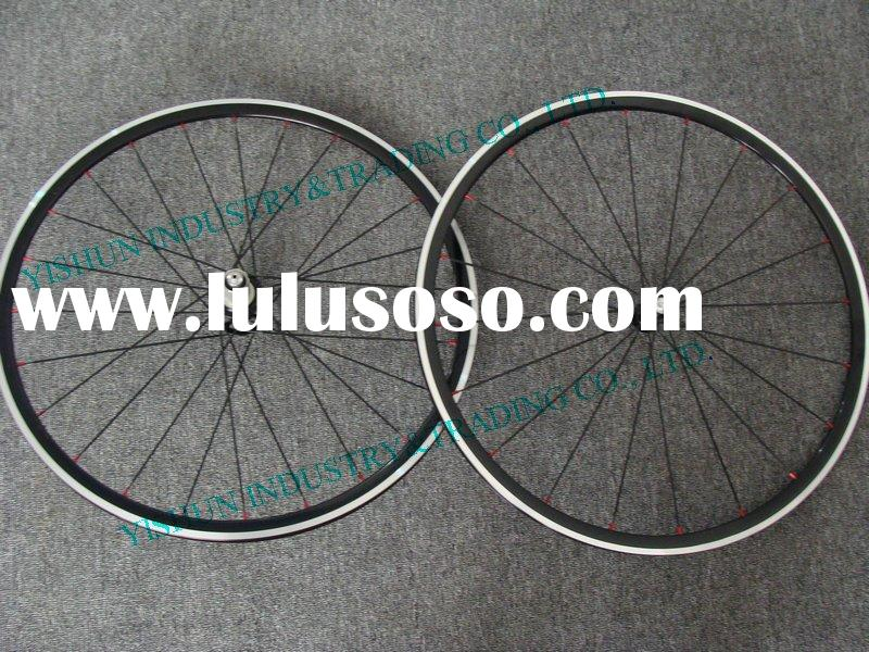 Hand built 27mm clincher alloy bicycle,bike wheel set