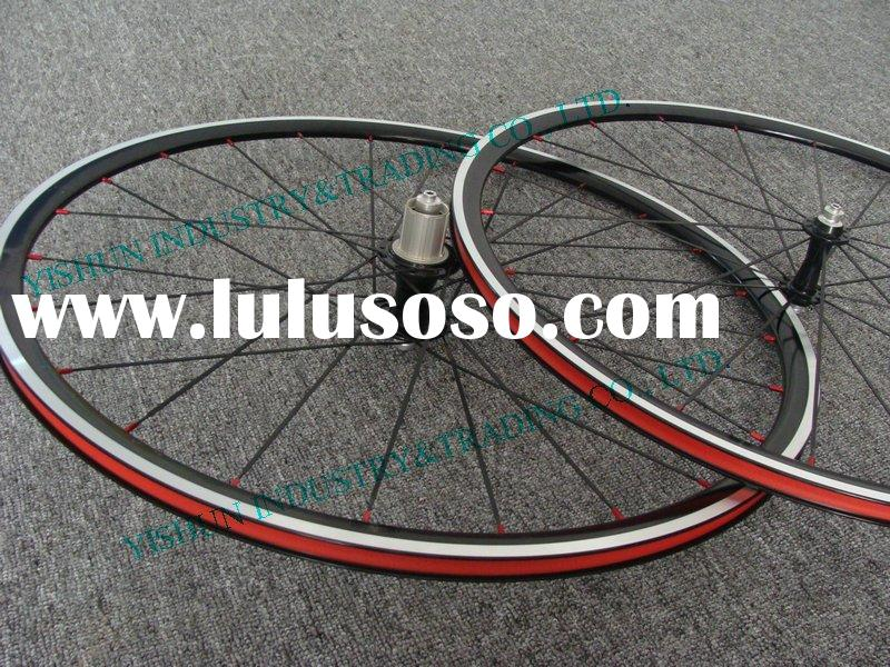 Hand built 27mm clincher alloy bicycle wheels
