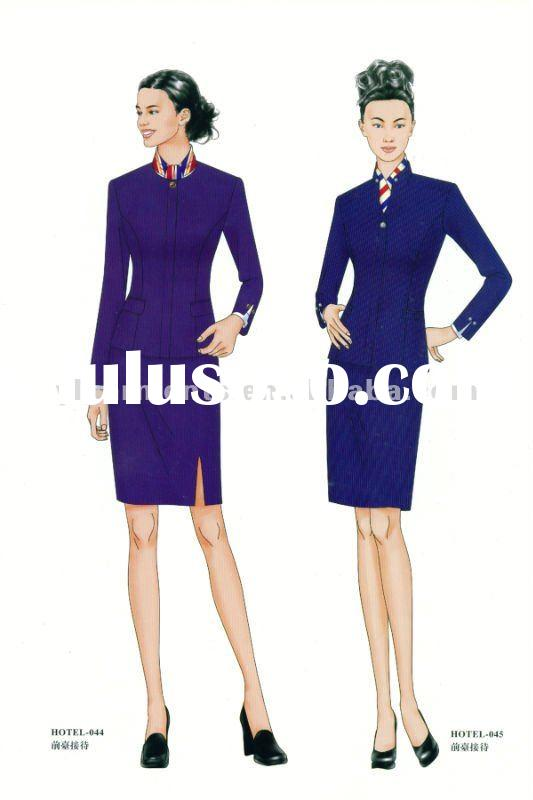 New style wool spa uniform spa dress by ctd for sale for Spa uniform europe