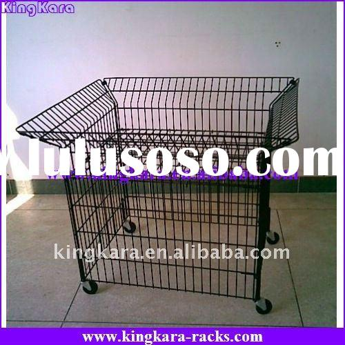 Kingkara movable metal wire carts for promotion products