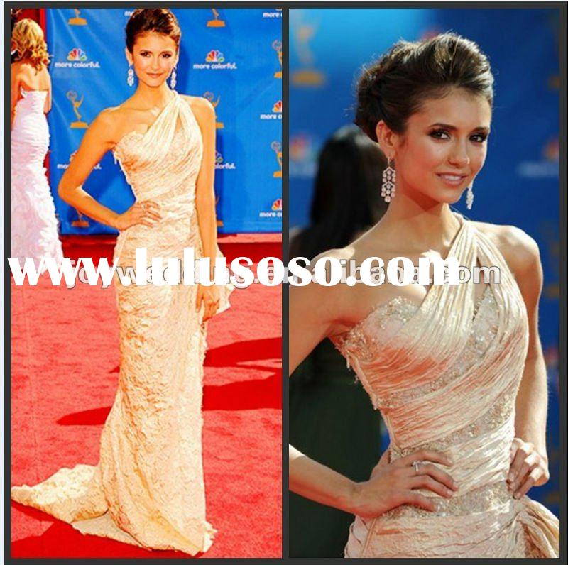 N077 Free shipping ball Ruffle designer dresses fashion mermaid 2012 red carpet celebrity Evening Dr