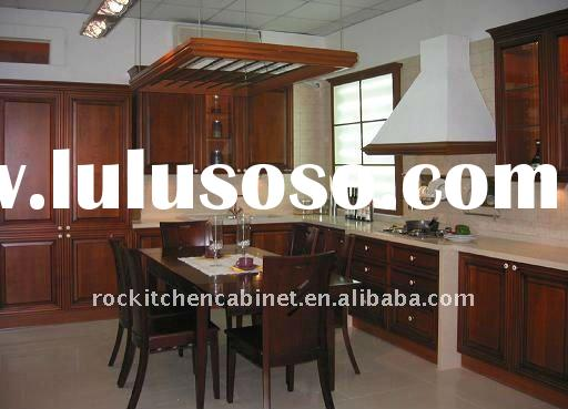 Natural Solid Wood kitchen cabinet
