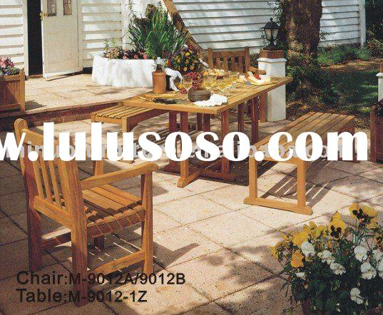 Outdoor wooden table & chairs M-9012
