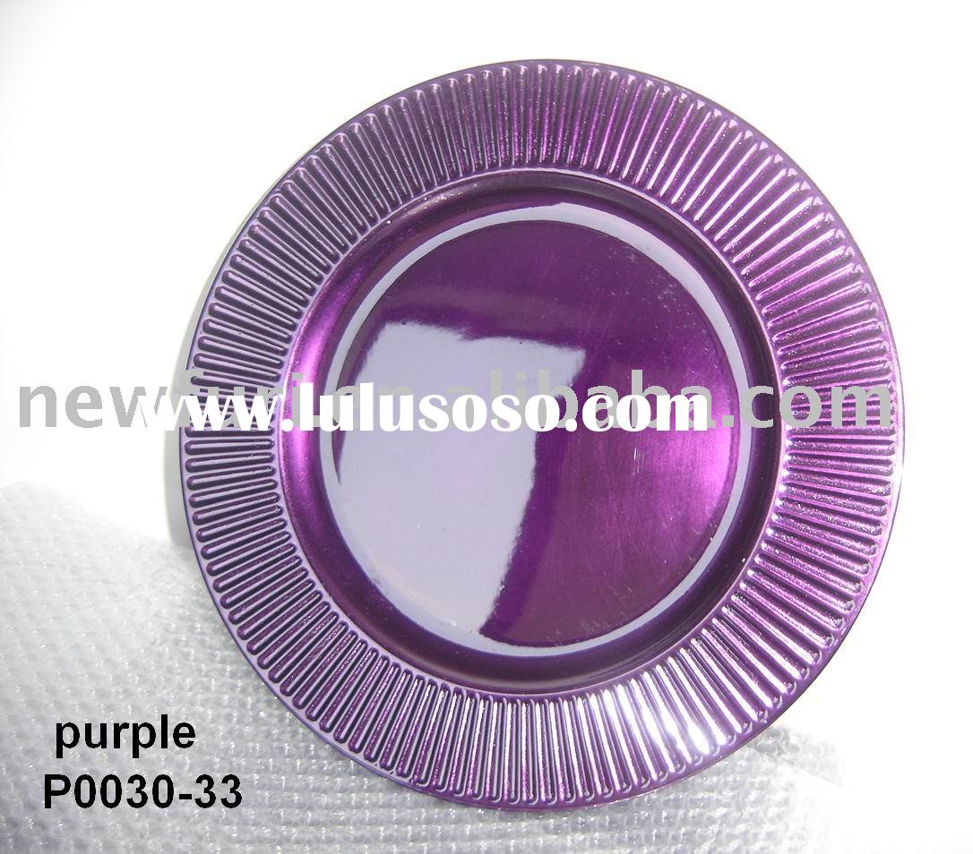 Useful Plastic Purple Plates Isolated On A White Background Two  sc 1 st  Best Plate 2018 & Plastic Purple Plates - Best Plate 2018
