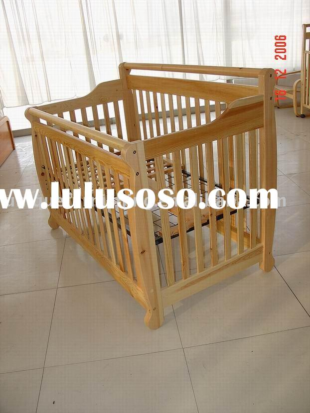 Wood Baby Crib Or Cradle Model Toy Small Baby Doll Bed For