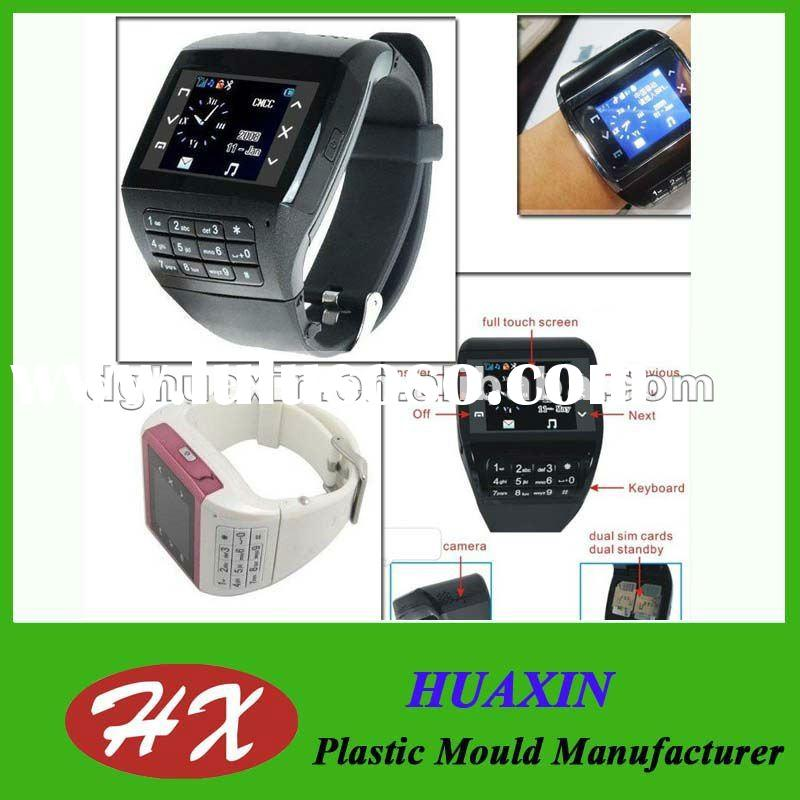 Unlocked Dual SIM Card Dual Standby Touch Screen Watch Phone