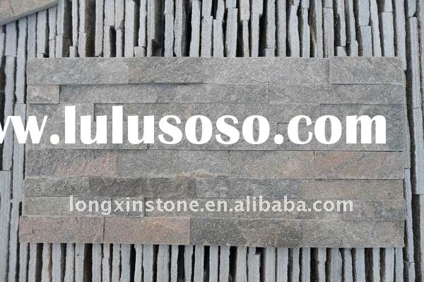 cheap indoor Quarzite Slate Stacked Stone wall panels