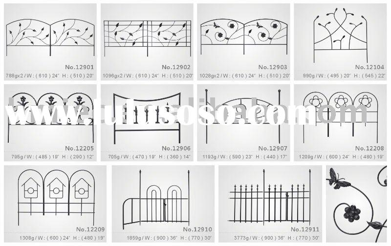 hand forged wrought iron style garden fence
