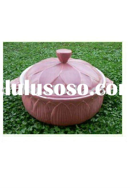 high heat resistant porcelain and ceramic round stock pot