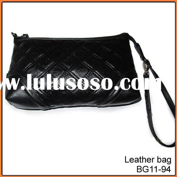 ladies fashion designer genuine leather clutch bags