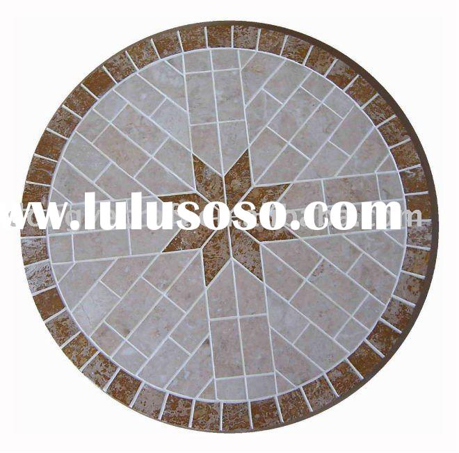 Elegant Outdoor Round Marble Dining Table Top YT580717