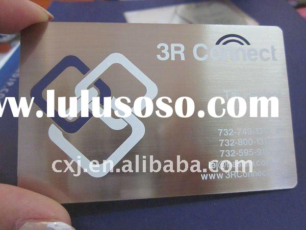 Top Quality Stainless Steel Card