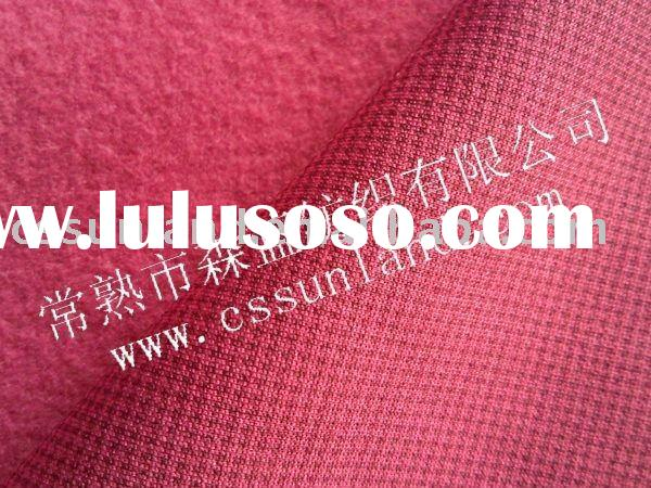 100 polyester fleece fabric with houndstooth print