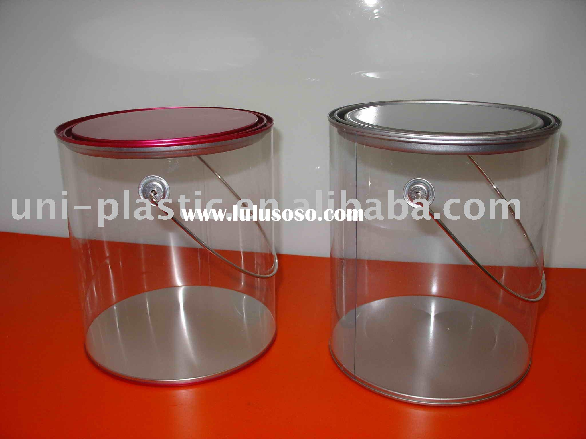 1 gallon clear paint cans wth handle for sale price for 1 gallon clear plastic paint cans