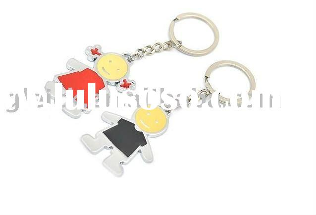 2012 Cute Boy and Girl Zinc Alloy Keychain For Lovers