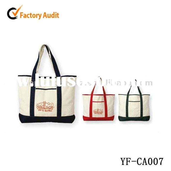 2012 hot-sale canvas tote bags/ OEM Canvas shopping bags/ 100% Cotton tote bags