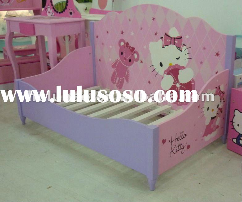 2012 new design best seller MDF hot sale hello kitty day bed