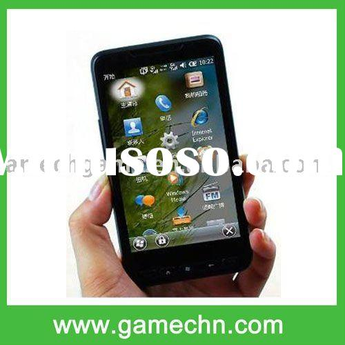 4.3 Touch Screen one sim card Windows 6.5+Wifi+GPS HD2 mobile Phone --- T8585 Without TF card