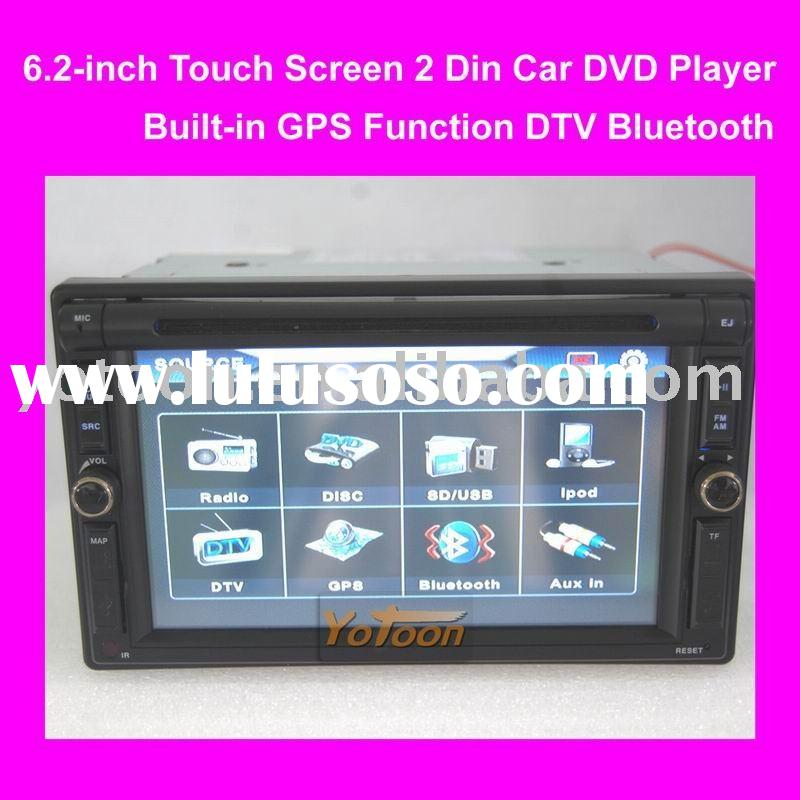 6.2 inch Touch Screen 2 Din Car GPS / Ipod / DVB-T TV / Bluetooth / TF card / FM / AM /USB