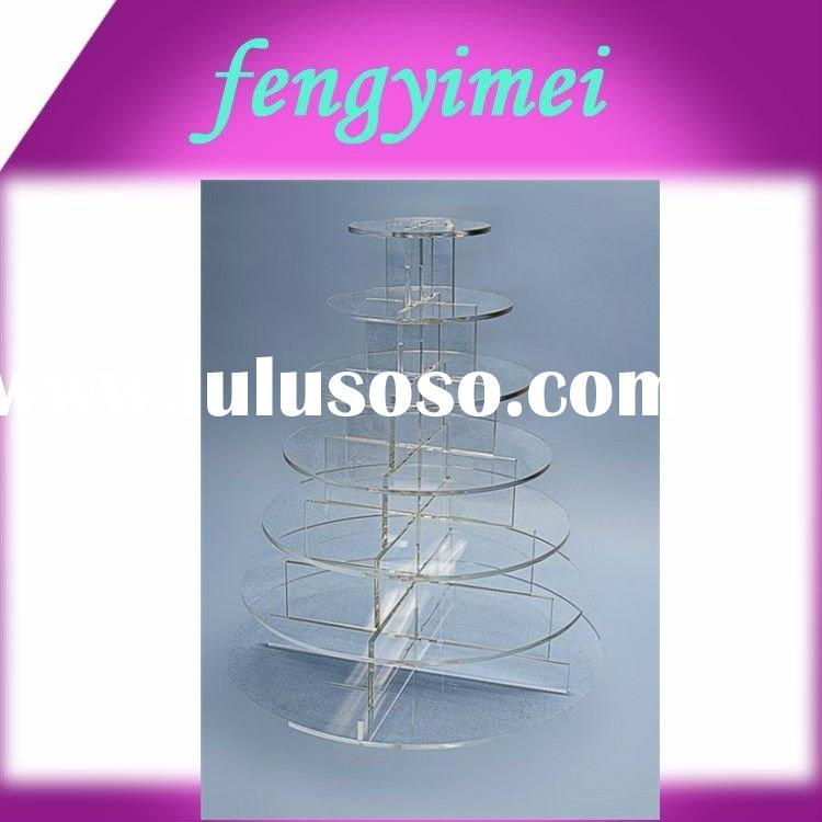 7 Tier Counter Top Fairly Basic Crystal Acrylic Cupcake&Party Cake Display Stand