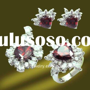 Chinese Wholesale 925 Sterling Silver Jewelry Manufacturer,Ruby stone jewelry,Cubic zirconia jewelry