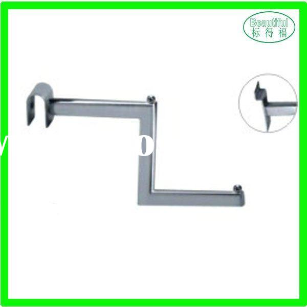 Chrome Plating clothing store fixtures Z hanging bar