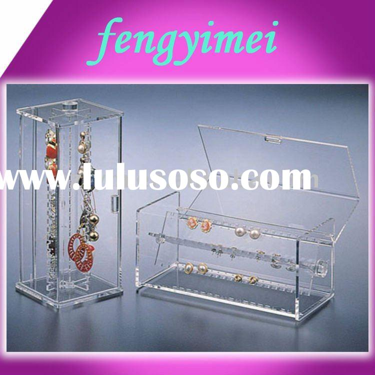 Clear Acrylic jewelry Display Case,acrylic jewelry display&case&stand