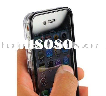 Clear Touchable Crystal Case for iPhone 4S with bulit-in screen protector