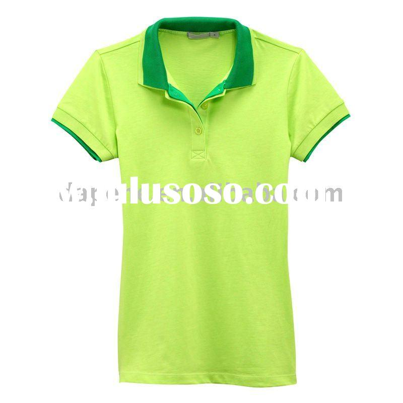 Designer Short Sleeve Cotton Polo t-shirts Free shipping