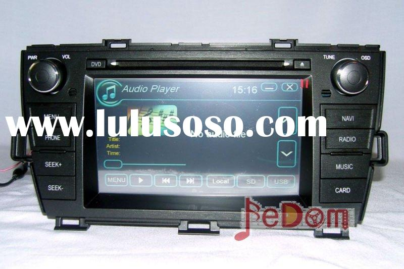 Double Din 2 In-dash DVD GPS navigation for Toyota Prius with 7' HD digital TFT touch screen