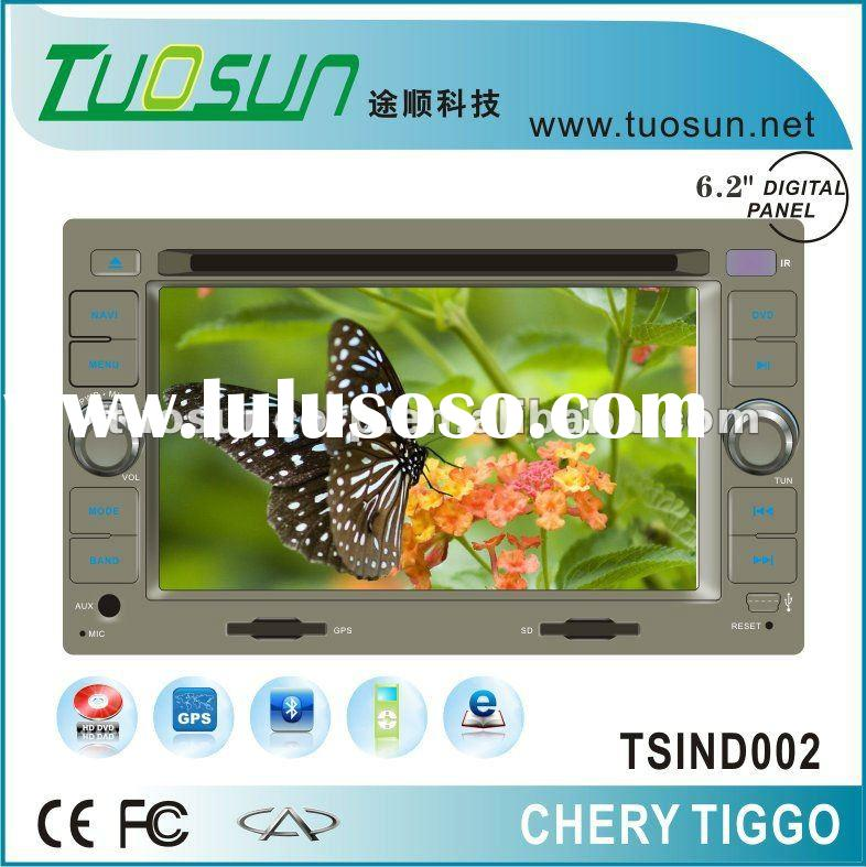 In-dash double din car dvd gps for Chery Tiggo with GPS Audio and Video Entertainment System and HD